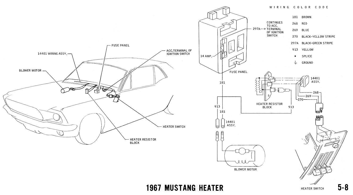 65 mustang heater wiring diagram  65  free engine image