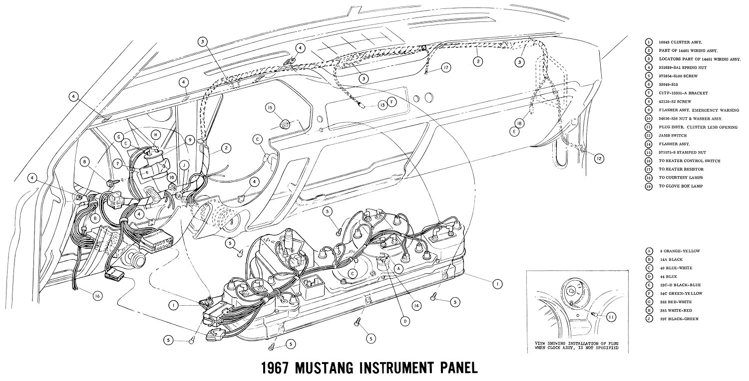 Instr on 1966 mustang headlight wiring diagram